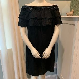 Off the Shoulder Black MSK Dress